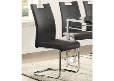 Watts Dark Grey Chair w/Chrome Frame