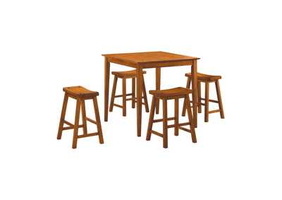 Image for Oak 5 Piece Counter Height Dining Set
