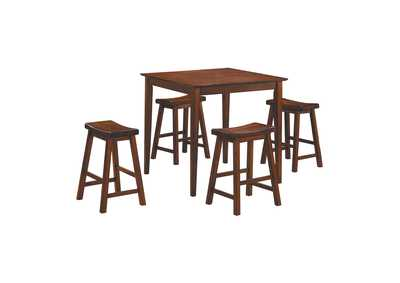 Image for Cherry 5 Piece Counter Height Dining Set