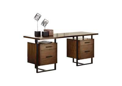 Image for Sedley Brown Writing Desk W/ Two Cabinets