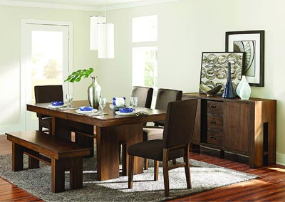 Image for Dining Table w/4 Side Chairs & Bench
