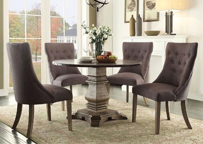 Dining Table w/4 Side Wing Chairs