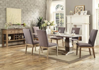Image for Dining Table w/4 Curved Arm Chairs