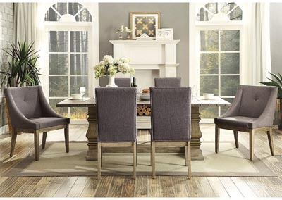 Dining Table w/4 Curved Arm Chairs
