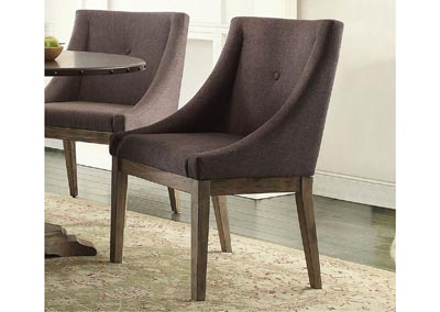 Curved Arm Chair (Set of 2)