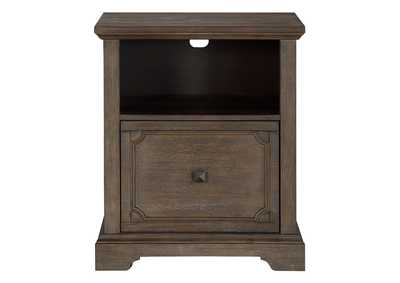 Image for Toulon Acacia & Oak File Cabinet