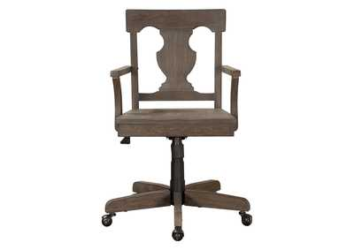 Toulon Acacia & Oak Office Chair W/ Adjustable Height