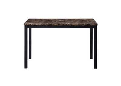Image for Waite Brown Faux Marble Top Dining Table