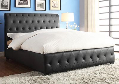 Baldwyn Black California King Platform/Upholstered Bed