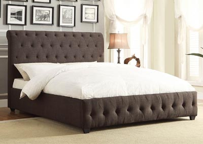 Baldwyn Grey California King Platform/Upholstered Bed