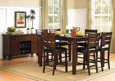Ameillia Square Dining Table w/4 Counter Height Chairs