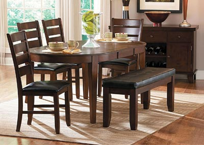 Ameillia Oval Dining Table w/4 Side Chairs