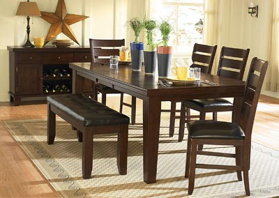 Ameillia Rectangular Dining Table w/4 Side Chairs
