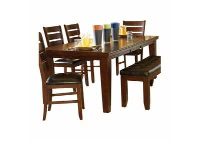 Image for Ameillia Dark Oak Dining Table