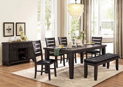 Dining Table w/4 Side Chairs & Bench