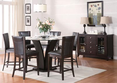 Daisy Dark Brown Counter Height Chair (Set of 2)