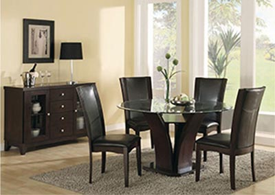 Daisy Dark Brown Side Chair (Set of 2)