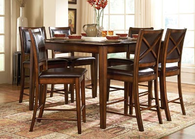 Image for Verona Square Counter Height Dining Table w/4 Counter Height Chairs