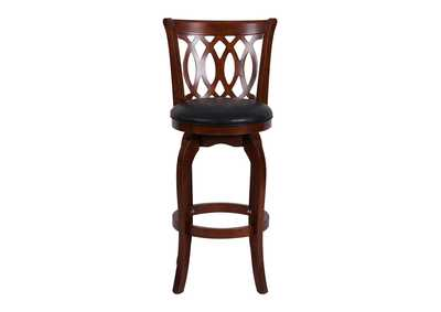 Image for Shapel Black Swivel Pub Chair