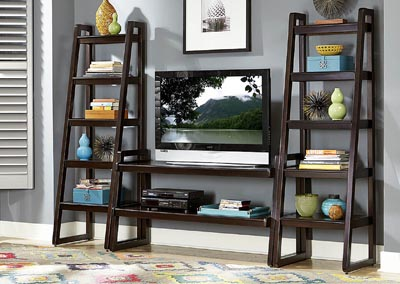 "Image for Cora 58"" Rich Espresso TV Stand w/2 Side Piers"
