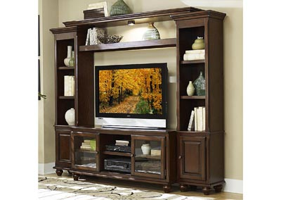 Lenore Rich Cherry 4 Piece Entertainment Center