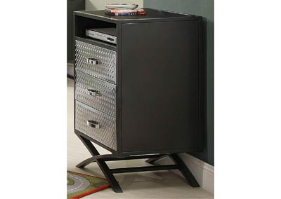 Spaced-Out Gun Powder Metal 3 Drawer Chest