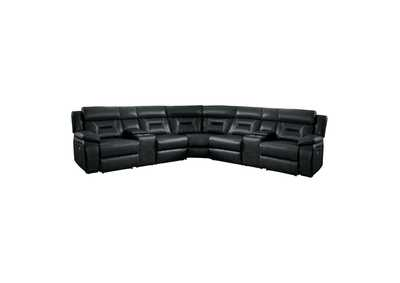 Amite  Grey 7-Piece Modular Power Reclining Sectional