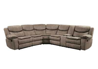 Bastrop Brown 3-Piece Sectional W/ Right Console