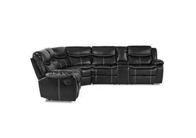 Bastrop Black 3-Piece Sectional W/ Right Console