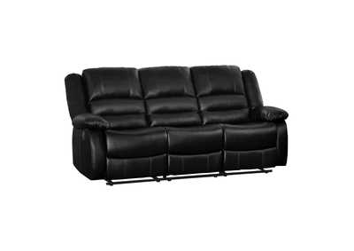 Jarita  Black Double Reclining Sofa