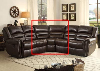 Palmyra Dark Brown Bonded Leather Corner Seat