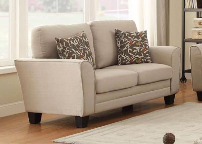Adair Beige Loveseat