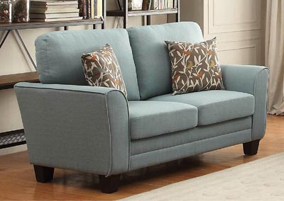 Adair Teal Loveseat