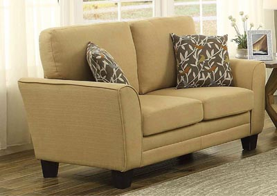 Adair Yellow Loveseat