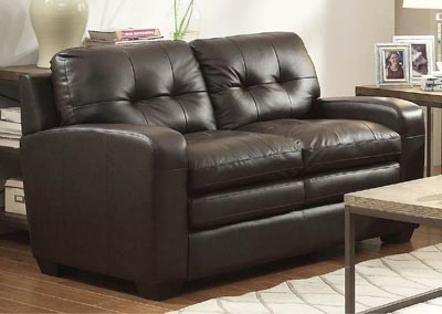 Urich Chocolate Leather Sofa