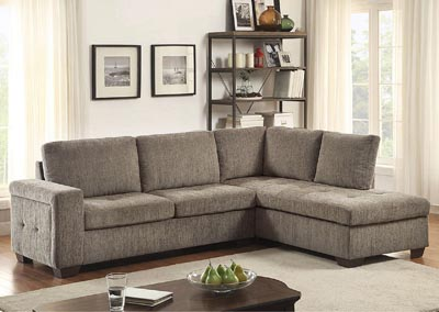 Image for Calby Lane Grey Chenille Sectional Sofa