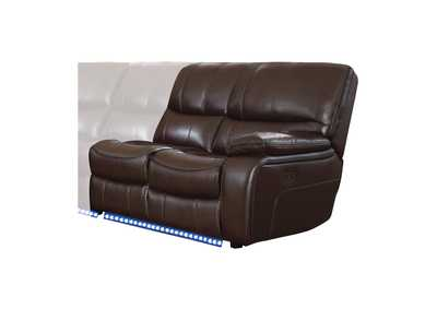 Pecos Dark Brown Right Side Reclining Love Seat