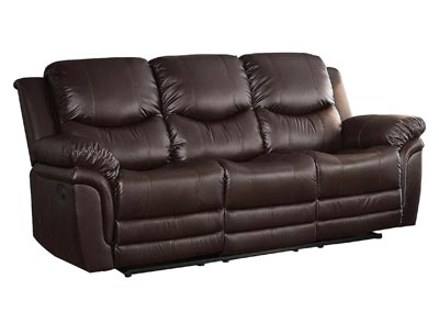 St. Louis Park Dark Brown Double Reclining Sofa