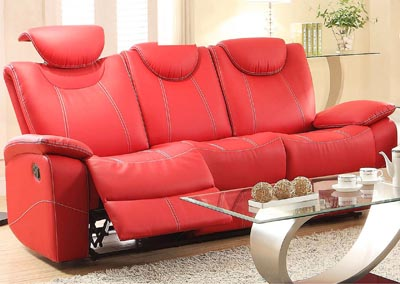 Talbot Red Double Reclining Sofa