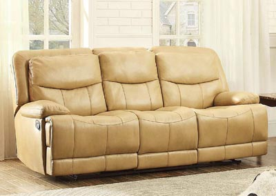 Risco Taupe Double Reclining Sofa