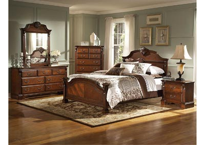 Legacy Queen Panel Bed w/Dresser, Mirror, Drawer Chest and Nightstand
