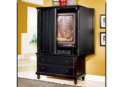 Pottery Black Armoire