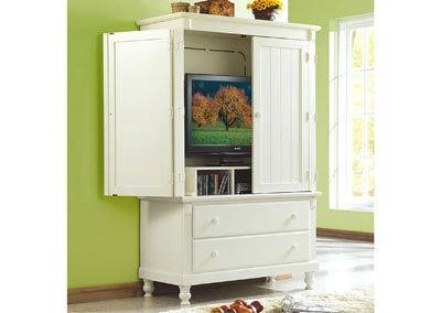 Pottery White Armoire