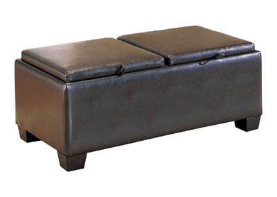 Image for Vega Brown Storage Cocktail Ottoman