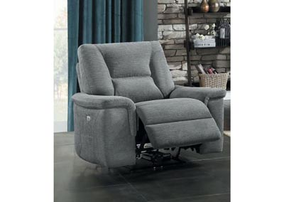 Edelweiss Metal Grey Reclining Chair