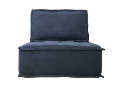 Image for Ulrich Blue Modular Chair W/ Removable Bolster and Pillow