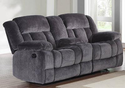 Laurelton Charcoal Double Reclinng Loveseat w/Center Console
