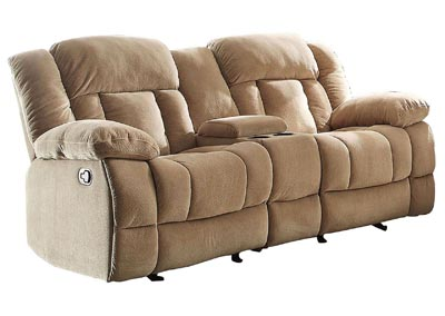 Laurelton Taupe Double Reclinng Loveseat w/Center Console