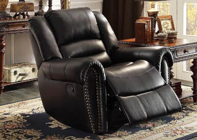 Center Hill Black Glider Reclining Chair