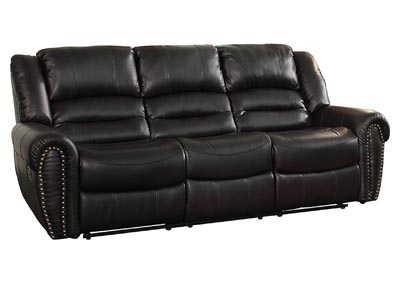 Center Hill Black Double Reclining Sofa